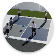 example reinvented playground with improved surfacing and new features